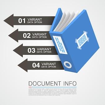 Kolor taśmy z informacjami o dokumencie. ilustracja wektorowa