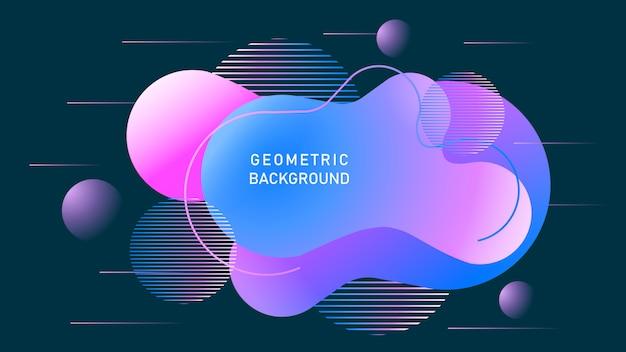 Kolor tła gradientowego. abstrakcjonistyczny geometryczny tło z ciekłymi kształtami