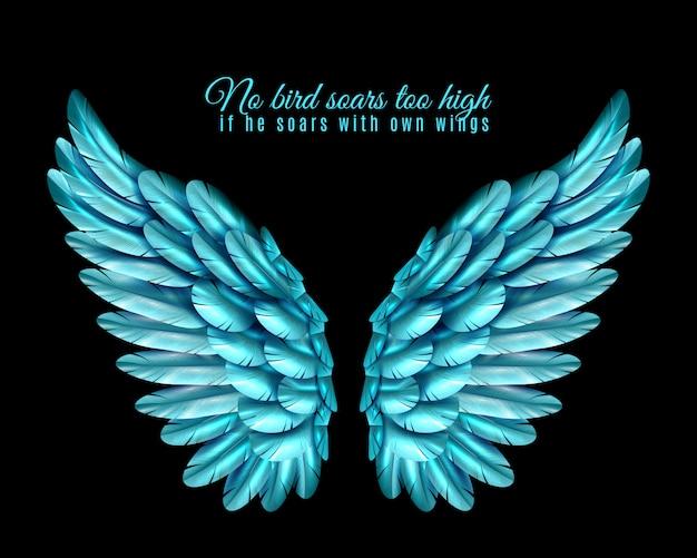 Kolor tła skrzydła ptaka