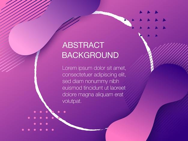 Kolor tła z copyspace. kompozycja płynnego gradientu i geometrycznych kształtów. ilustracja wektorowa futurystyczna