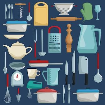 Kolor tła z różnych elementów kuchni