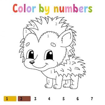 Kolor według liczb. kolorowanka dla dzieci.
