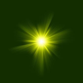 Kolor zielony z wybuchem. plik w zestawie