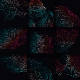Kolorowa abstrakt ilustracja konturowa ilustracja