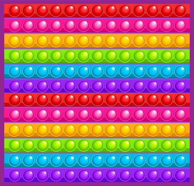 Kolorowa antystresowa zabawka dotykowa popycha ją