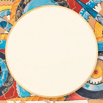 Kolorowa Artystyczna Rama Ozdobna W Stylu Vintage Darmowych Wektorów