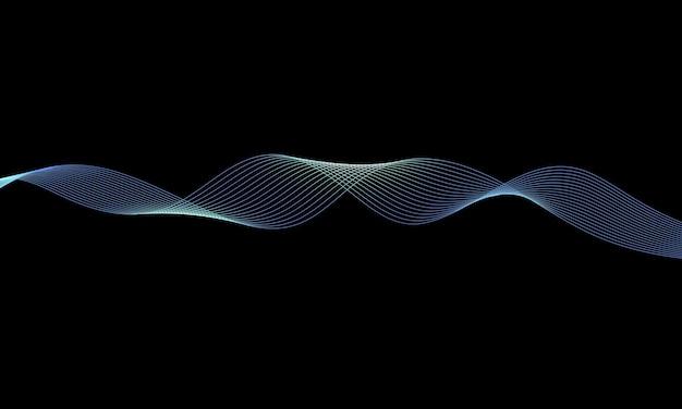 Kolorowa błyszcząca fala z liniami