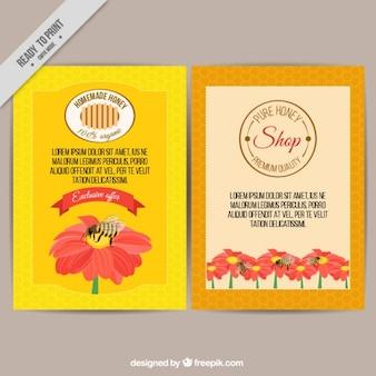 Kolorowa broszura sklep miodu