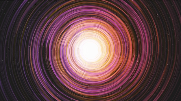 Kolorowa czarna dziura na tle galaktyki spirala drogi mlecznej, koncepcja wszechświata