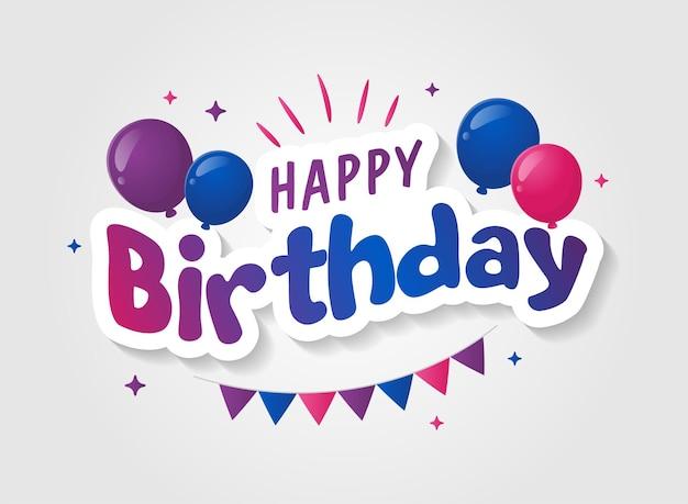 Kolorowa czcionka z okazji urodzin
