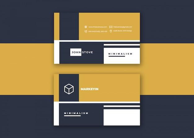 Kolorowa czysta kreatywnie korporacyjna minimalna wizytówka