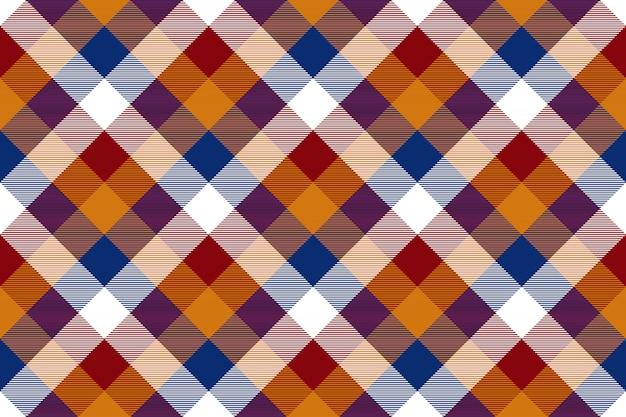 Kolorowa diagonalna czek bezszwowa tkanina tekstura