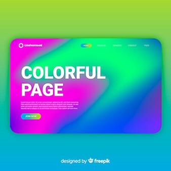 Kolorowa falista strona docelowa
