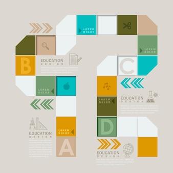 Kolorowa gra planszowa lub projekt elementu infografiki przepływu pracy