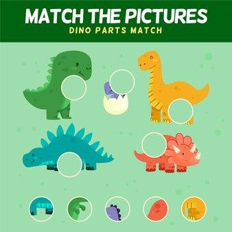 Kolorowa gra w dopasowywanie z uroczą kolekcją elementów