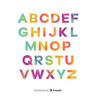 Kolorowa gradientowa typografia
