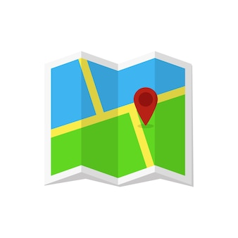 Kolorowa ikona lokalizacji w płaska konstrukcja