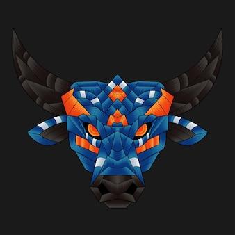 Kolorowa ilustracja byka