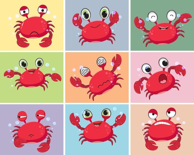 Kolorowa ilustracja kreskówka krab