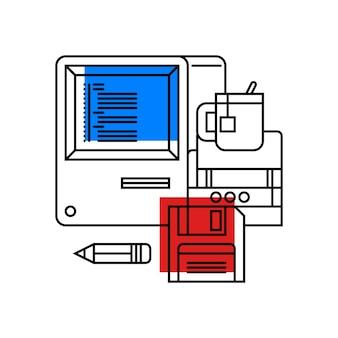 Kolorowa ilustracja o informatyce i programowaniu
