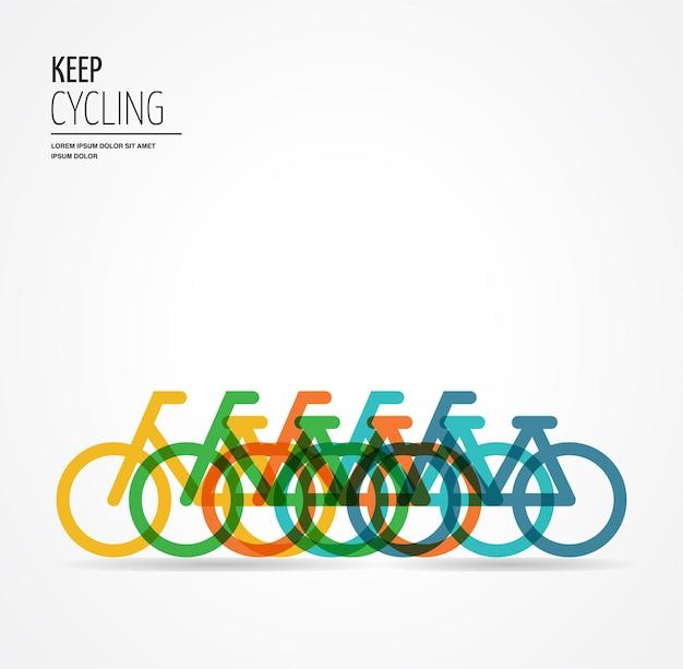 Kolorowa ilustracja rowerowa