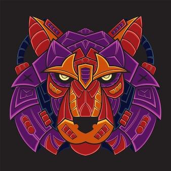 Kolorowa ilustracja tygrysa