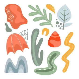 Kolorowa kolekcja abstrakcyjnych kształtów