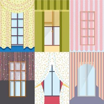 Kolorowa kolekcja klasycznych okien