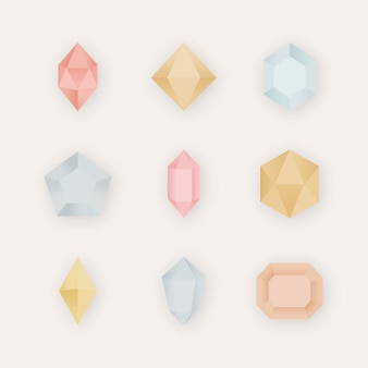 Kolorowa kolekcja kryształowych kamieni