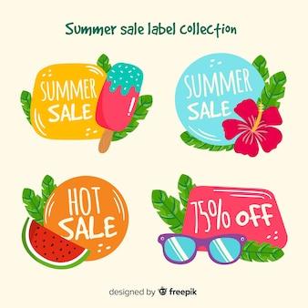 Kolorowa kolekcja lato sprzedaż etykiet
