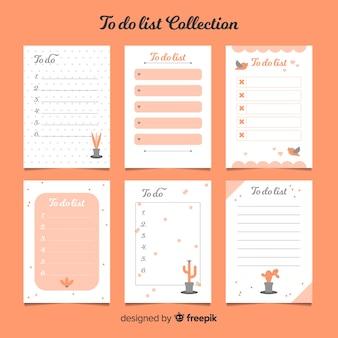Kolorowa kolekcja list z płaskim wzorem