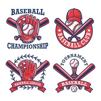 Kolorowa kolekcja logo i insygniów baseball