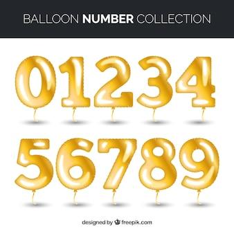 Kolorowa kolekcja numerów balon
