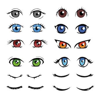 Kolorowa kolekcja oczy