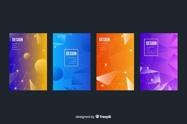 Kolorowa kolekcja okładek technologii