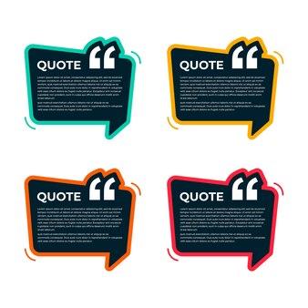 Kolorowa kolekcja szablonów cytatów