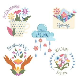 Kolorowa kolekcja wiosenna etykieta