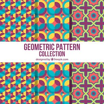 Kolorowa kolekcja zabawnych geometrycznych wzorców