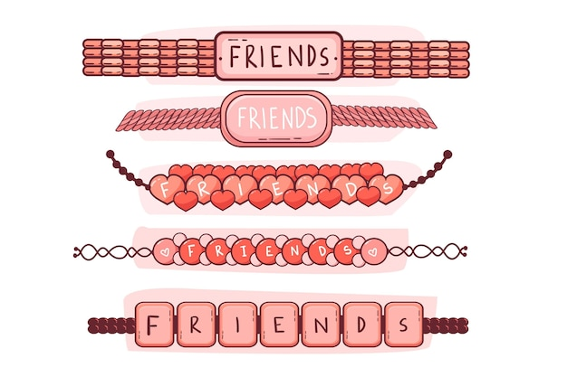 Kolorowa kolekcja zespołu przyjaźni