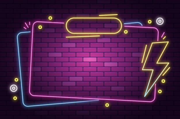Kolorowa konstrukcja ramy neonowej