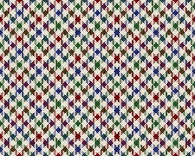Kolorowa kraciasta diagonalna tkaniny tekstury bezszwowy wzór