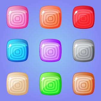 Kolorowa kwadratowa łamigłówka do dopasowywania 3 gier