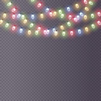 Kolorowa lampa jarzeniowa na drucianych strunach świecące światła świąteczne ozdoby wiankowe ledowe światło neonowe