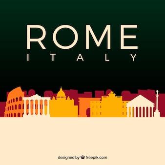 Kolorowa linia horyzontu rome