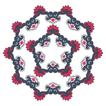 Kolorowa mandala design