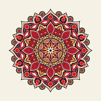 Kolorowa mandala tło ozdobny styl