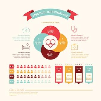 Kolorowa medyczna infographic grafika