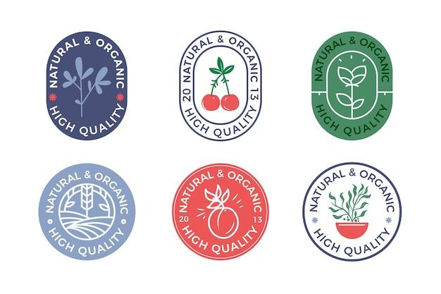 Kolorowa minimalna kolekcja logo w stylu retro