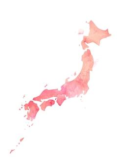Kolorowa odosobniona japonia w akwareli