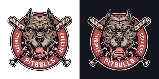 Kolorowa odznaka drużyny baseballowej